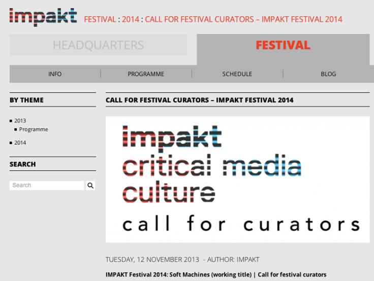 IMPAKT Festival 2014