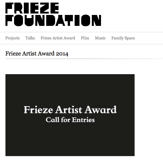 Frieze Artist Award 2014